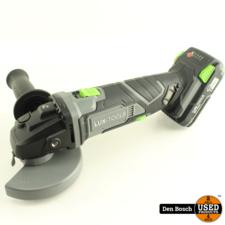 Lux Tools A-WS-20/115 Haakse Slijper + Accu, Oplader en Aankoopbon