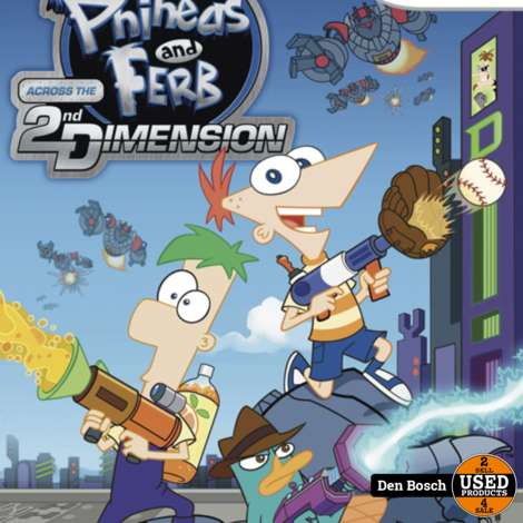 Phineas and Ferb Across the 2nd Dimension -Wii Game