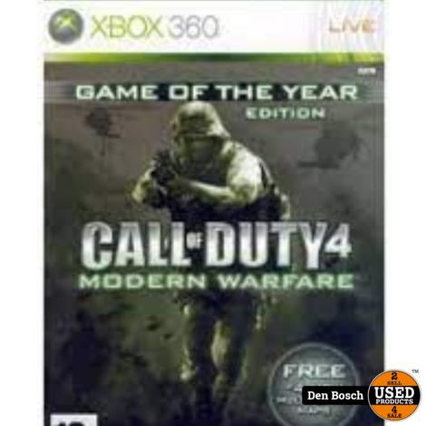 Call of Duty 4 Modern Warfare GOTY - XBox 360 Game