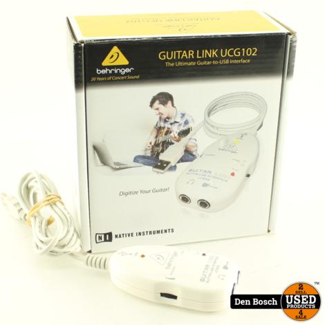 Behringer UCG102 Gitaar naar USB Interface