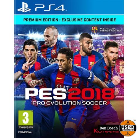 Pro Evolution Soccer 2018 - PS4 Game