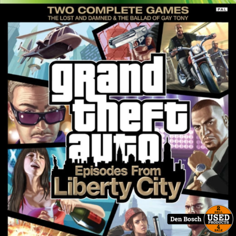Grand Theft Auto 4 Episodes from Liberty City - X 360 Game