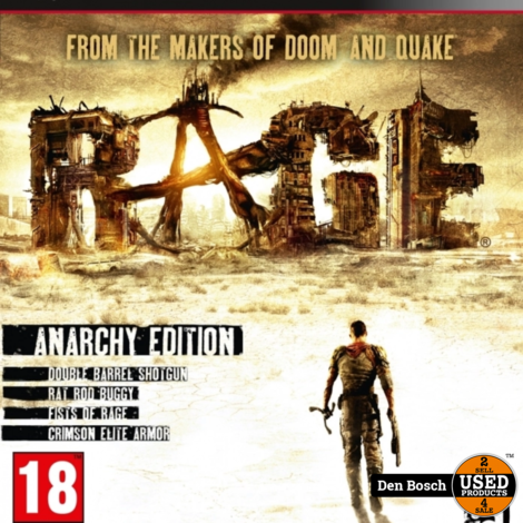 Rage Anarchy Edition - PS3 Game