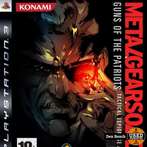 Metal Gear Solid 4 Guns of the Patriots - PS3 Game