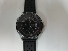 Aviator Men's Watch Pilot Chronograph World Time Watch AVW7770G78 Black Leather Watch