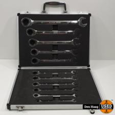 11 delig HBM Steek ring ratel-sleutel set