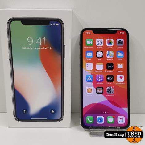 Iphone x 64 GB Silver / 3 maanden garantie