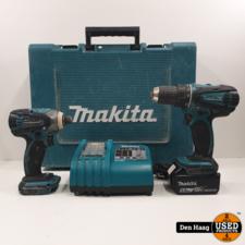 Makita BDF456 + BTD146 met 1 accu en oplader in koffer