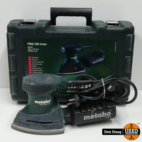 Metabo FMS 200 Intec handpalm schuurmachine in koffer - 200W