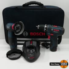 Bosch Professional GWS10,8-76 V-EC+GSR10,8-2-LI Accuschroefboormachine