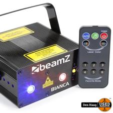 BeamZ Bianca dubbele Laser Disco 330mW RGB Gobo met remote