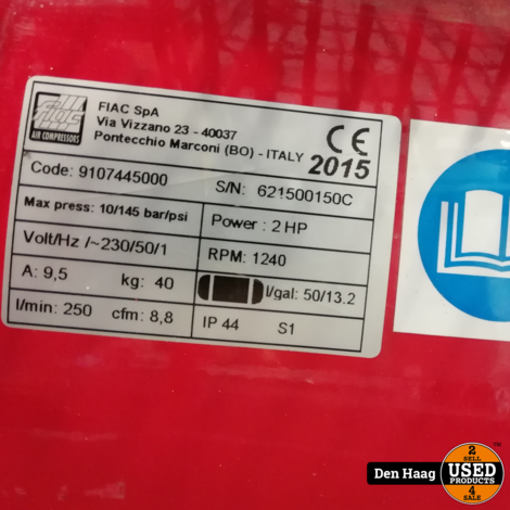 Roda - fiac 50 ltr compressor