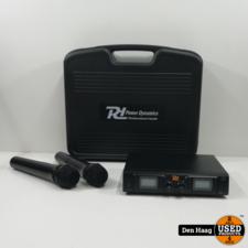 Power Dynamics PD782 2x 8-Kanaals UHF Draadloos Microfoonsysteem met 2 Microfoons