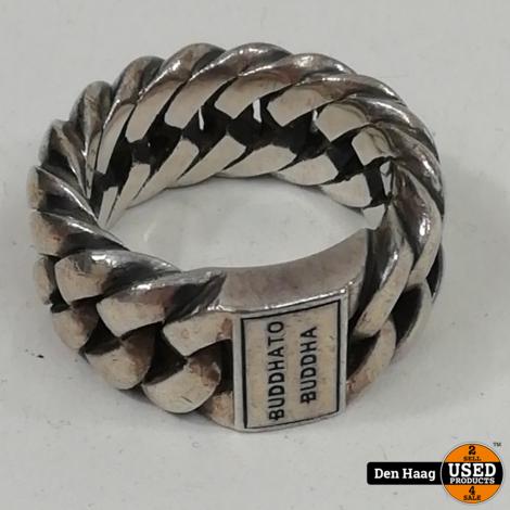 Buddha To Buddha ring 500 Chain Maat 22, 925 Zilver