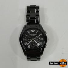 ARMANI AR1400 Emporio Ceramic Black Mens Chronograph Watch