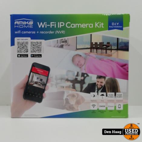 Amiko Draadloze WiFi KIT N4900 - 2MP - 4 x WiFi Camera
