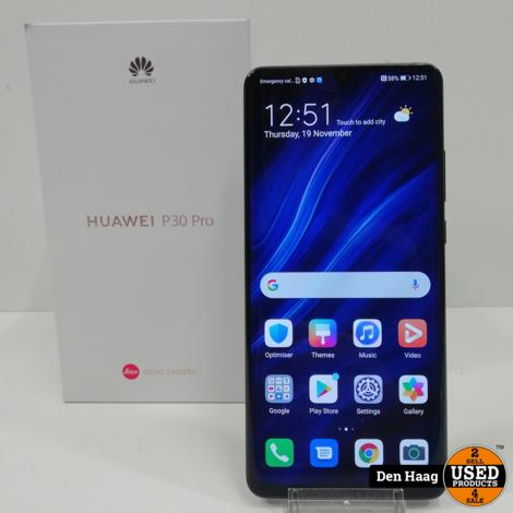 Huawei P30 Pro 128GB Black   1 jaar garantie