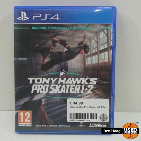 Tony Hawks Pro Skater 1+2  Ps4 game