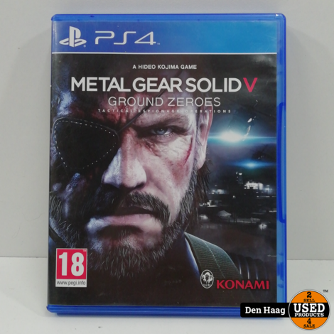Metal Gear Solid V, Ground Zeroes / playstation 4
