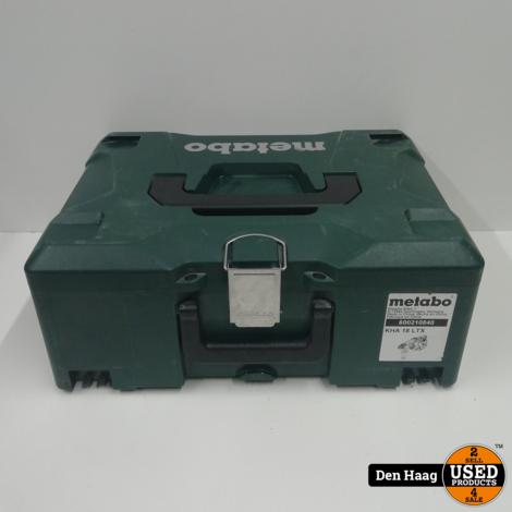 Metabo Accu-combihamer KHA 18 LTX, MetaLoc (zonder accu en lader) - 600210840