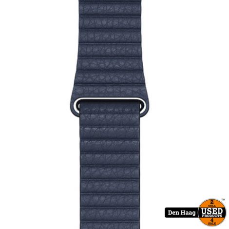 Apple Watch Leren Bandje (44 mm), Duikersblauw, Large (geschikt voor een pols van 180–210 mm)