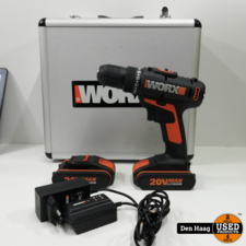 WORX Accuschroefboormachine WX170.6 20V (incl. 60-delige accessoireset in koffer)