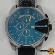 DIESEL Mega Chief chronograaf met zwarte nylon band voor heren DZ4523