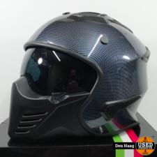 Vito Jet Bruzano helm glans carbon look L scooterhelm motorhelm