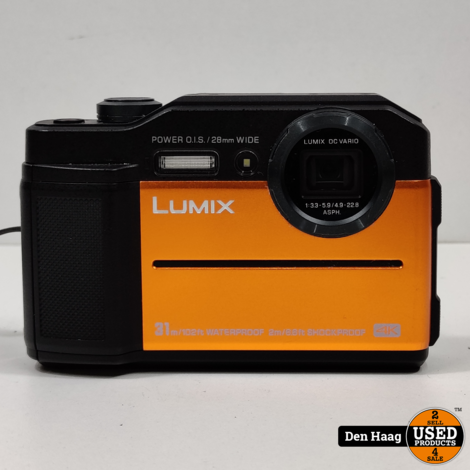 Panasonic Lumix FT7 - Oranje + 128GB kaart