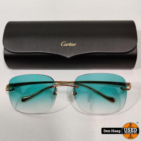 CARTIER CT0058O zonnebril Green / maat 130