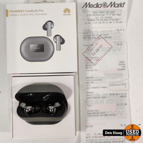 Huawei Freebuds Pro - Volledig draadloze oordopjes met Noise Cancelling - Zilver