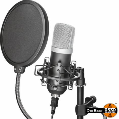 Trust Gaming GXT 252 Emita Streaming Studio Microphone (Professionele USB Microfoon voor PC) Zwart