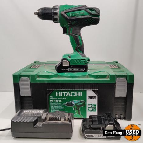 Hitachi DS18DJL WC ACCU SCHROEFMACHINE 1,5AH