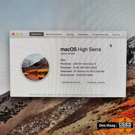 imac 2010 / inclusief bt keyboard en muis