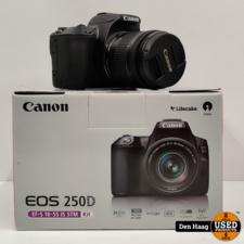 Canon EOS 250D + 18-55mm f/4-5.6 iS STM Zwart