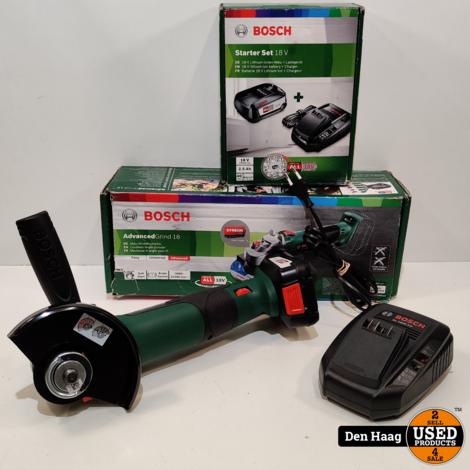 Bosch Groen AdvancedGrind 18 Haakse accuslijper 125 mm