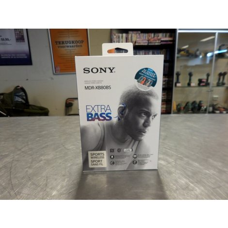 Sony MDR-XB80BS Bluetooth Sport Oordopjes Blauw   Nieuw