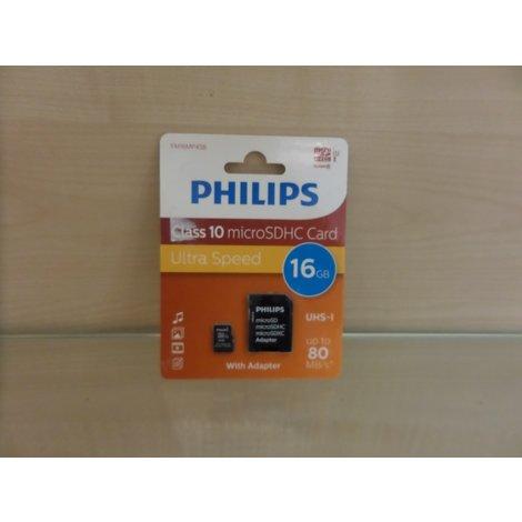 Philips FM16MP45B 16GB Flashgeheugenkaart met adapter | Nieuw