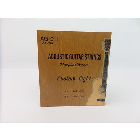 AG-011 Akoestische gitaar Snaren Custom Light - Nieuw