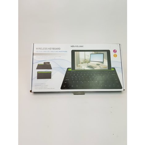 Soundlogic Draadloos Toetsenbord - Bluetooth - Gleuf Voor Smartphone of Tablet