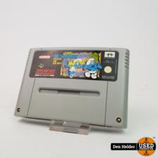 nintendo Die Schlümpfe Reisen Um Die Welt SNES Game - In Goede Staat