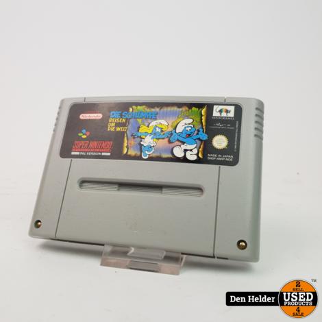 Die Schlümpfe Reisen Um Die Welt SNES Game - In Goede Staat