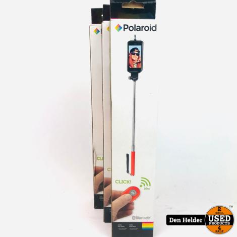 Polaroid Selfie Stick Bluetooth Rood - Nieuw