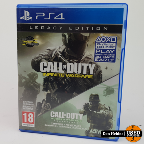 Call Of Duty Infinite Warfare / Modern Warfare Sony PlayStation 4 Game - In Prima Staat