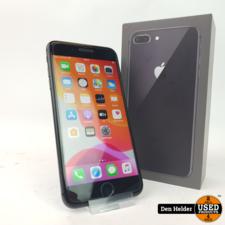 Apple iPhone 8 Plus 256GB Black Accu 95% - In Prima Staat