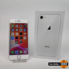 Apple iPhone 8 64GB Silver Accu 85%  - In Prima Staat