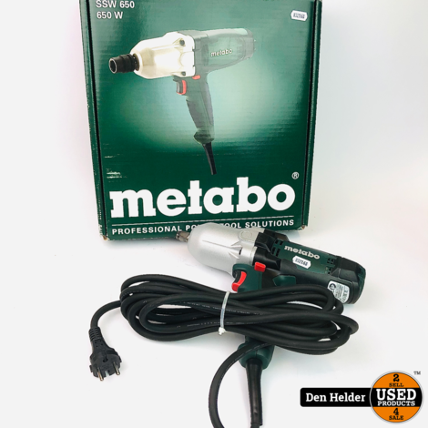 Metabo SSW 650 W Professioneel Slagmoersleutel 650W - Nieuwstaat