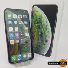 Apple iPhone XS 64 GB Space Gray Accu 92% - In Goede Staat
