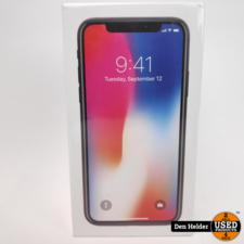 Apple Apple iPhone X 256GB Space Gray - Nieuw 1 Jaar Apple Care Garantie