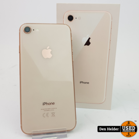 iPhone 8 64GB Rose Gold Accu 88% - In Goede Staat